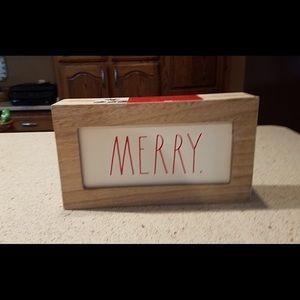 Rae Dunn merry sign